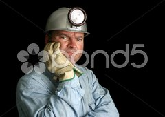 Disgruntled Mine Worker Stock Photos
