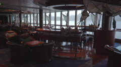 Cruise ship lounge and bar - onboard interior Stock Footage
