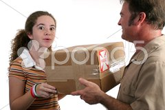 Surprise Delivery Stock Photos