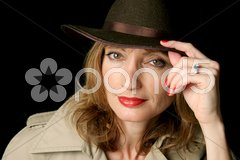 Woman of Mystery Stock Photos