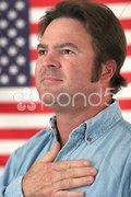 American Man Patriotic Stock Photos