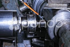 Machine with metal-working coolant Stock Photos