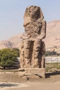 Giant statue of the colossi of Memnon ( Luxor, Egypt Stock Photos