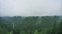 Rising mist in forest mountain area, time lapse Arkistovideo