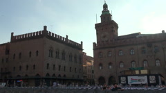 Piazza Maggiore is the main square of Bologna Stock Footage