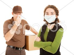 Delivering the Flu Stock Photos