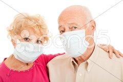 Epidemic - Swine Flu Seniors Stock Photos