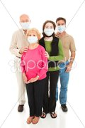 Epidemic - Worried Family Stock Photos