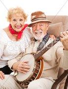 Senior Country Music Couple Stock Photos
