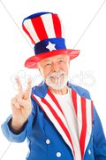 Uncle Sam - Peace Sign Stock Photos