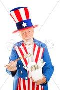 Uncle Sam Eats Dim Sum Stock Photos