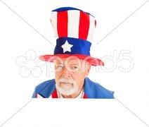 Uncle Sam Head - Unhappy Stock Photos