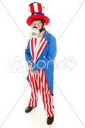 Uncle Sam in Gas Mask - Full Body Stock Photos