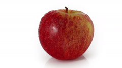 Fresh apple rotating at white background Stock Footage