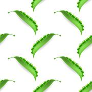 Vector Fresh Natural Green Peas Seamless Pattern Stock Illustration
