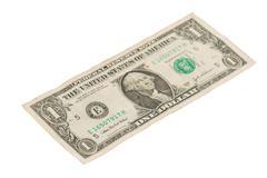 US one Dollar bill, close up Stock Photos