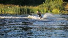 Man on jet ski Stock Footage