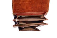 One briefcase leather Stock Photos