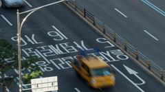 Timelapse of road traffic on Seoul highway, South Korea Stock Footage