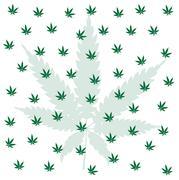 Cannabis Leaf Background Stock Illustration