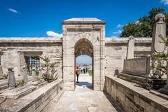 Suleymaniye Mosque Cemetery in Istanbul Stock Photos