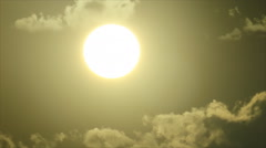 Clouds melting in bright sunlight Stock Footage