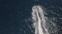 Aerial view of jet ski rider Stock Footage