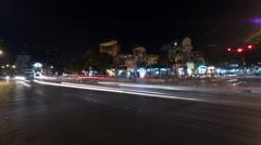 Timelapse of night city Hanoi, Vietnam Arkistovideo