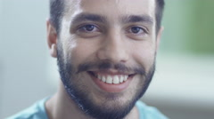 Portrait of Hispanic Ethnicity Smiling Man Stock Footage