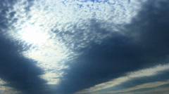 Bright light through clouds Stock Footage