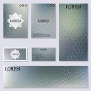 Set of modern templates for brochure, flyer, visit cards and banner. Structure Stock Illustration