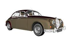 Vintage luxury car - 3D render Piirros