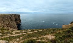Summer Atlantic coast (Cape St. Vincent, Algarve, Portugal). Stock Photos