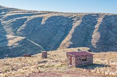 Campsite on the rim of the extinct Brukkaros volcano Stock Photos