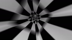 Abstract black-and-white tunnel Stock Footage