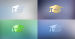 Education 3d Icon Stock Footage
