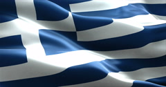 Fabric texture of the flag of greece Stock Footage