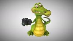 Fun crocodile - 3D animation Stock Footage