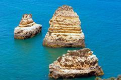 Ponta da Piedade cape(Lagos, Algarve, Portugal). Stock Photos