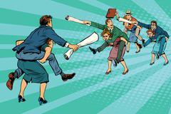 Business battle gender inequality Stock Illustration