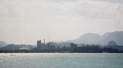 Abstract Timelapse of the Lafarge Cement Plant in Langkawi, Malaysia Stock Footage