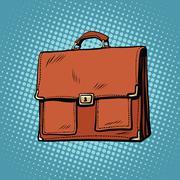 Realistic stylish leather business portfolio bag Stock Illustration