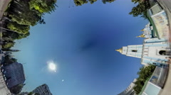Rabbit Hole Planet 360 Degree. Michael's Square Stock Footage