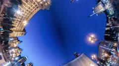 Rabbit Hole Planet 360 Degree. Maidan. Night . Stock Footage