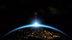 Space Sunrise over USA - North America. Earth from space. Stock Footage
