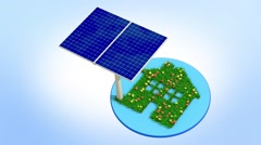 Eco solar energy Stock Footage