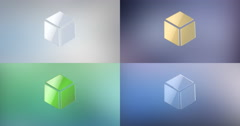 Cube 3d Icon Stock Footage