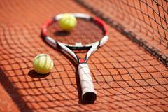 Close up of sport equipment for tennis Stock Photos