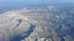 Overflying of what remain of the glaciers of the Adamello and Lobbia area. Stock Footage