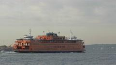 Staten Island ferry Stock Footage